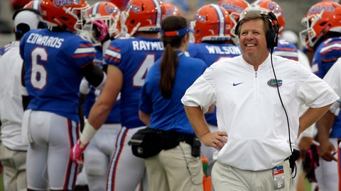 "<p>               FILE - In this Oct. 28, 2017, file photo, Florida head coach Jim McElwain, right, walks the sidelines during a timeout in the second half of an NCAA college football game against Georgia in Jacksonville, Fla. The ""Buyout Bowl"" was expected to be a blowout, until last week. Colorado State rallied to upset Arkansas. Florida loss to Kentucky. Now, not even former Rams and Gators coach Jim McElwain could accurately predict what will happen in the Swamp. Regardless, the one-off game is a seemingly awkward affair, an expensive reminder of McElwain's success at Colorado State and his failure at Florida. (AP Photo/John Raoux, File)             </p>"