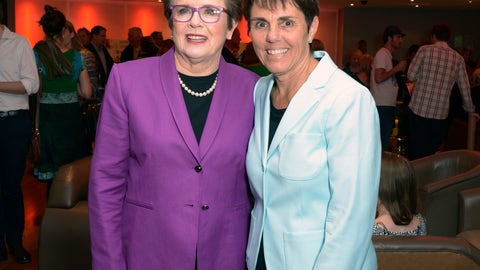 <p>               FILE - In this Wednesday June 26 2013 file photo, former professional tennis champion Billie Jean King and Ilana Kloss at the premier of Battle of the Sexes in London.  Billie Jean King and partner Ilana Kloss have joined the Los Angeles Dodgers ownership group. The Dodgers made the announcement Thursday, Sept. 20, 2018. The tennis great says Dodgers owner and chairman Mark Walter and the organization have proven to be leaders in sports on and off the field. (Photo by Jon Furniss/Invision/AP, File)             </p>