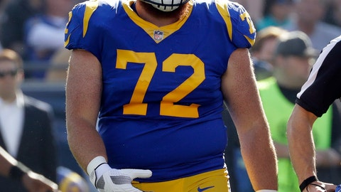 <p>               FILE - In this Dec. 31, 2017, file photo, Los Angeles Rams' Aaron Neary looks on during the first half of an NFL football game against the San Francisco 49ers in Los Angeles. Neary, a center on the Rams' practice squad, has been arrested on suspicion of driving under the influence and damaging property. The Simi Valley Police Department says it received several calls about an erratic driver who had hit a bus stop sign and mailboxes and trash cans on Sunday, Sept. 16, 2018, about two hours after the Rams' victory over the Arizona Cardinals. (AP Photo/Rick Scuteri, File)             </p>