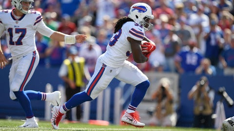 <p>               Buffalo Bills' Chris Ivory, right, runs for a touchdown during the second half of an NFL football game against the Los Angeles Chargers, Sunday, Sept. 16, 2018, in Orchard Park, N.Y. (AP Photo/Adrian Kraus)             </p>
