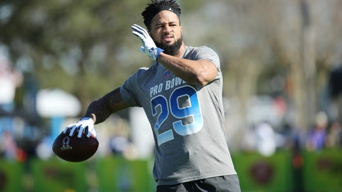 <p>               FILE - In this Jan. 24, 2018, file photo, NFC free safety Earl Thomas, of the Seattle Seahawks, prepares to throw a pass during Pro Bowl NFL football practice, in Kissimmee, Fla. It's finally game week for the Seattle Seahawks and safety Earl Thomas is still not around. The absence of Thomas is just one of the questions about Seattle's secondary heading into the opener at Denver. (AP Photo/Gregory Payan, File)             </p>