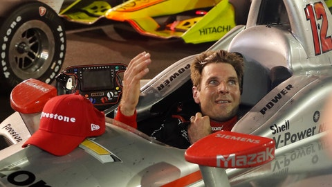 <p>               Will Power, of Australia, celebrates as he sits in his car after winning the IndyCar auto race at Gateway Motorsports Park on Saturday, Aug. 25, 2018, in Madison, Ill. (AP Photo/Jeff Roberson)             </p>