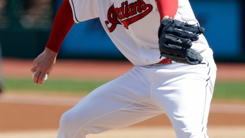 <p>               Cleveland Indians starting pitcher Corey Kluber delivers in the first inning of a baseball game against the Kansas City Royals, Wednesday, Sept. 5, 2018, in Cleveland. (AP Photo/Tony Dejak)             </p>