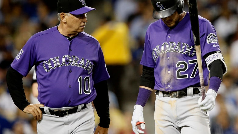 Rockies' Trevor Story leaves with injury vs Dodgers