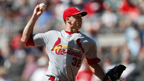 <p>               St. Louis Cardinals starting pitcher Jack Flaherty works against the Atlanta Braves in the first inning of a baseball game Wednesday, Sept. 19, 2018, in Atlanta. (AP Photo/John Bazemore)             </p>