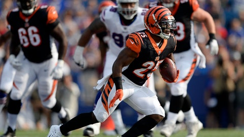 <p>               FILE - In this Aug. 26, 2018, file photo, Cincinnati Bengals running back Giovani Bernard carries the ball during the first half of a preseason NFL football game against the Buffalo Bills, in Orchard Park, N.Y. The Bengals will rely more heavily on Giovani Bernard to pull them through the next few games with running back Joe Mixon sidelined after a knee procedure.(AP Photo/Adrian Kraus, File)             </p>