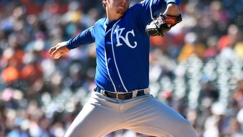<p>               Kansas City Royals starting pitcher Brad Keller throws against the Detroit Tigers during the first inning of a baseball game in Detroit, Sunday, Sept. 23, 2018. (AP Photo/Jose Juarez)             </p>