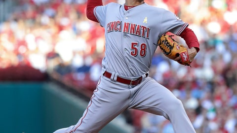 <p>               Cincinnati Reds starting pitcher Luis Castillo delivers during the first inning of the team's baseball game against the St. Louis Cardinals on Saturday, Sept. 1, 2018, in St. Louis. (AP Photo/Tim Spyers)             </p>