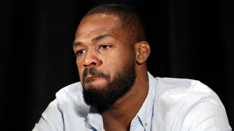 <p>               FILE - In this July 7, 2016, file photo, mixed martial arts fighter Jon Jones reacts as he speaks during a news conference in Las Vegas. Former UFC light heavyweight champion Jon Jones should be eligible to fight by late October after completing a 15-month suspension for a doping violation. The U.S. Anti-Doping Agency on Wednesday, Sept. 19, 2018 announced the length of Jones' ban for his second violation of the UFC's anti-doping policy. (AP Photo/John Locher, File)             </p>
