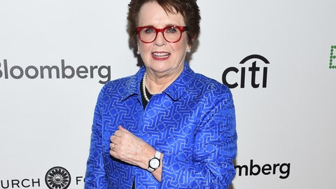 "<p>               FILE - In this Sept. 19, 2017 file photo, tennis great Billie Jean King attends a special screening of Fox Searchlight's ""Battle of the Sexes"" in New York. The New-York Historical Society announced Tuesday, Sept. 4, 2018, that a photo exhibit, ""Billie Jean King: The Road to 75,"" will run from Oct. 19 through Jan. 27, 2019. The exhibit will feature photographs from her storied life and career as player and activist.  (Photo by Evan Agostini/Invision/AP, File)             </p>"
