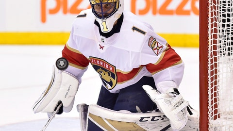 <p>               FILE - In this March 28, 2018, file photo, Florida Panthers goaltender Roberto Luongo watches the puck as a shot goes by the net during the second period of the team's NHL hockey game against the Toronto Maple Leafs, in Toronto. Luongo has made his money, knows he's headed to the Hockey Hall of Fame one day, ranks among the sport's all-time leaders in virtually every goaltending category. Yet at 39, he's still chasing the thing he wants most _ the Stanley Cup. (Frank Gunn/The Canadian Press via AP, File)             </p>