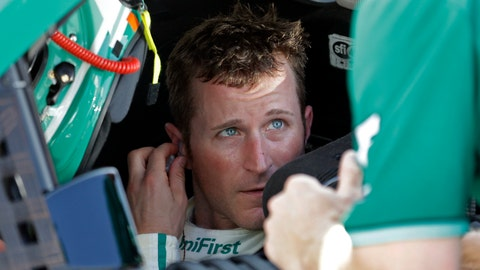 <p>               FILE - In this June 30, 2017, file photo, Kasey Kahne talks with a crew member after qualifying for the NASCAR cup auto race at Daytona International Speedway, in Daytona Beach, Fla. Kahne will not defend his Brickyard 400 victory because of dehydration issues that have given him an elevated heart rate while he's driving. Regan Smith will drive the No. 95 Chevrolet at Indianapolis Motor Speedway. Kahne said Friday, Sept. 7, 2018, he's not sure when he can race again, and he's scheduled to retire from NASCAR competition at the end of this season.(AP Photo/John Raoux, File)             </p>