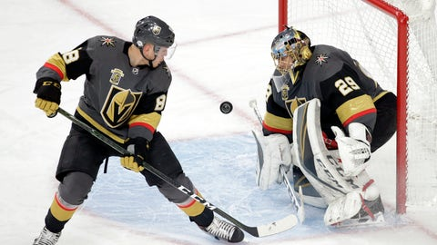 "<p>               FILE - In this Feb. 11, 2018, file photo, Vegas Golden Knights defenseman Nate Schmidt (88) and goalie Marc-Andre Fleury defend a shot on goal from the Philadelphia Flyers during the third period of an NHL hockey game, in Las Vegas. Marc-Andre Fleury was surprised and T.J. Oshie was shocked to see Nate Schmidt suspended 20 games for a performance-enhancing drug violation. Current and former teammates expressed degrees of disbelief about the suspension this week after the NHL announced the Vegas Golden Knights defenseman's ruling Sunday. Schmidt insisted he didn't intentionally take a banned substance and couldn't have gotten any performance benefit from the ""trace amount"" that got into his system. (AP Photo/Isaac Brekken, File)             </p>"