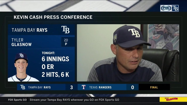 Kevin Cash recaps Tyler Glasnow's dominant performance, Rays' contributors on offense