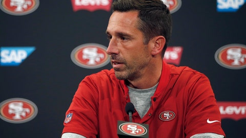 <p>               FILE - In this Aug. 30, 2018, file photo, San Francisco 49ers head coach Kyle Shanahan speaks at a news conference after an NFL preseason football game against the Los Angeles Chargers, in Santa Clara, Calif. When Kyle Shanahan took over as head coach of the 49ers last year, their fourth in as many seasons, his top priority was acquiring the type of quarterback he could try to help mold into the star this franchise of Joe Montana and Steve Young has lacked for so long. Before the 49ers got Jimmy Garoppolo, Shanahan and general manager John Lynch had their eyes on Kirk Cousins. Cousins took an $84 million fully guaranteed contract from Minnesota, where the 49ers will open the season on Sunday and Shanahan will surely share a warm pregame greeting with his former pupil. (AP Photo/Josie Lepe, File)             </p>