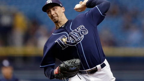 <p>               Tampa Bay Rays' Blake Snell pitches to the Cleveland Indians during the first inning of a baseball game Wednesday, Sept. 12, 2018, in St. Petersburg, Fla. (AP Photo/Chris O'Meara)             </p>