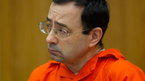<p>               FILE - In this Jan. 31, 2018, file photo, Larry Nassar appears for his sentencing at Eaton County Circuit Court in Charlotte, Mich. Lawyers rushed to meet a Monday, Sept. 10, deadline to file lawsuits against Michigan State University to qualify for $75 million set aside for more victims of Nassar. (Cory Morse /The Grand Rapids Press via AP, File)             </p>