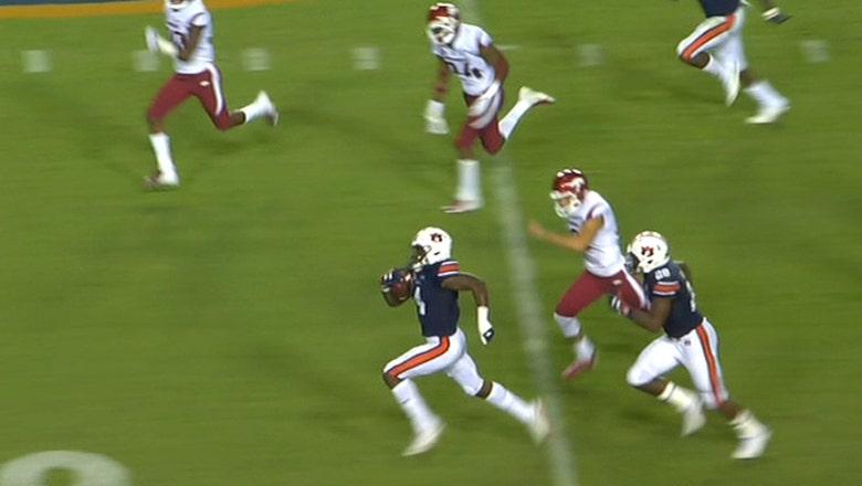 Noah Igbinoghene's 96-yard kickoff return for a touchdown helps No. 9 Auburn take down Arkansas