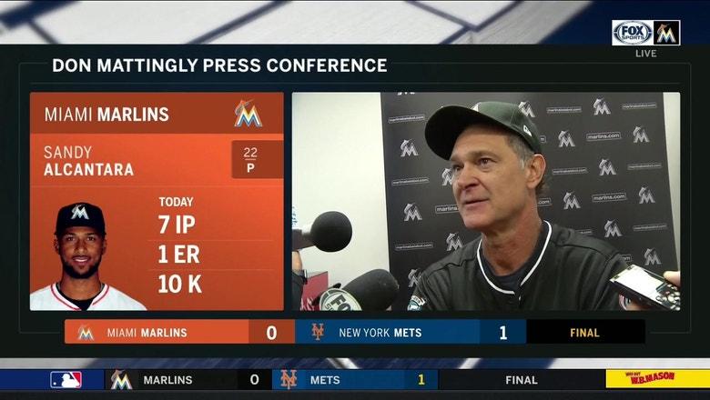 Don Mattingly on Alcantara's 10-strikeout performance, 1-0 loss to Mets