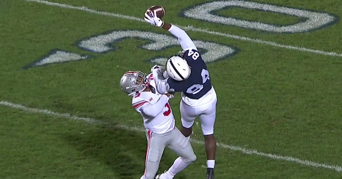 Penn State Wr S One Handed Snag Is A Must See Catch Of The Year