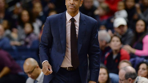<p>               FILE - In this Feb. 25, 2018, file photo, then-Connecticut coach Kevin Ollie watches during the first half the team's NCAA college basketball game in Storrs, Conn. The University of Connecticut and former coach Ollie have been notified by the NCAA of alleged recruiting and other violations during his tenure at the school. The notice of allegations, released Friday night, Sept. 28, by UConn with the names of recruits redacted, includes numerous charges, including unethical conduct by Ollie for allegedly provided false or misleading information about video calls to a recruit from two former UConn stars, Hall of Famer Ray Allen and San Antonio Spurs guard Rudy Gay. (AP Photo/Jessica Hill, File)             </p>