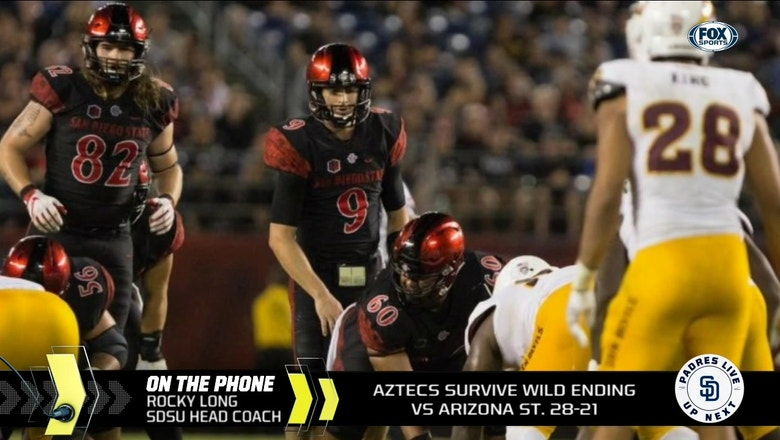 Aztecs coach Rocky Long talks about victory over Arizona State