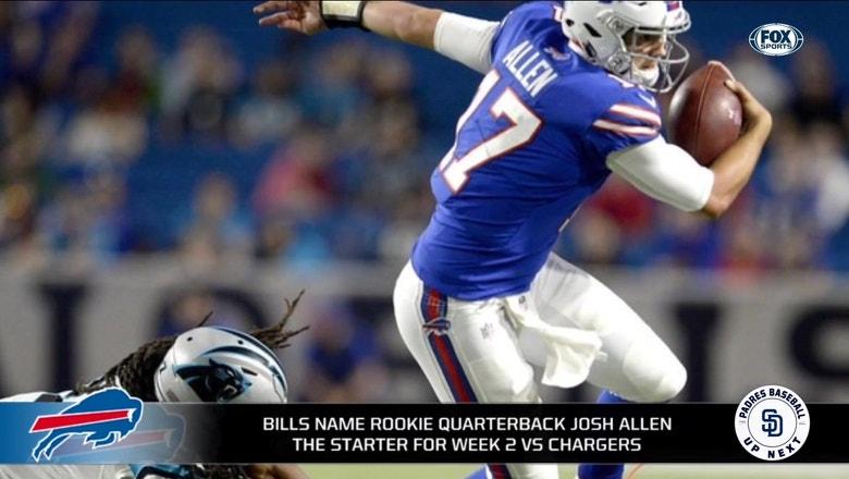 Bills name Josh Allen as starter for week 2 vs. Chargers