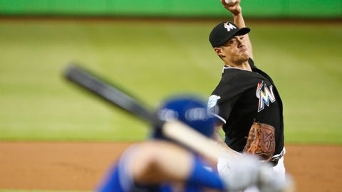 <p>               Miami Marlins starting pitcher Wei-Yin Chen delivers during the first inning of a baseball game against the Toronto Blue Jays, Saturday, Sept. 1, 2018, in Miami. (AP Photo/Brynn Anderson)             </p>