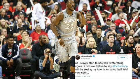Jimmy Butler, Wolves guard/forward