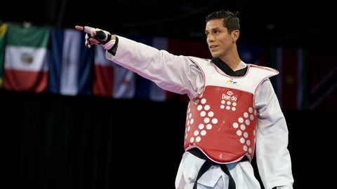 <p>               FILE - In this July 21, 2015 file photo, United States' Steven Lopez celebrates winning a bronze medal by defeating Venezuela's Javier Medina in the men's taekwondo under-80kg category at the Pan Am Games in Mississauga, Ontario. The U.S. Center for SafeSport has on Thursday, Sept. 6, 2018, permanently banned the two-time Olympic taekwondo champion for sexual misconduct involving a minor. (AP Photo/Rebecca Blackwell, File)             </p>