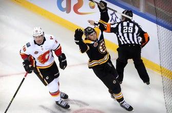 Boston Bruins douse Calgary Flames 3-1 in Beijing