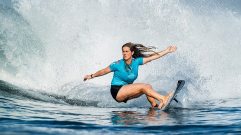 <p>               In this photo taken June 1, 2018, and provided by the World Surf League, teen sensation Caroline Marks competes in the Corona Bali Protected at Keramas, Indonesia. Marks showed her brothers, all right, who was the best surfer in the family. Goaded by her siblings at a young age while growing up in Florida, Marks took to the waves with such gusto that at 16, she's the youngest competitor on the World Surf League's Championship Tour. (Kelly Cestari/World Surf League via AP)             </p>