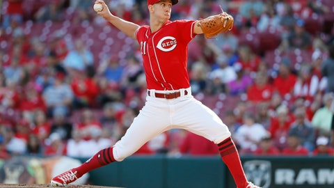 <p>               Cincinnati Reds relief pitcher Michael Lorenzen throws in the first inning of a baseball game against the Pittsburgh Pirates, Saturday, Sept. 29, 2018, in Cincinnati. (AP Photo/John Minchillo)             </p>