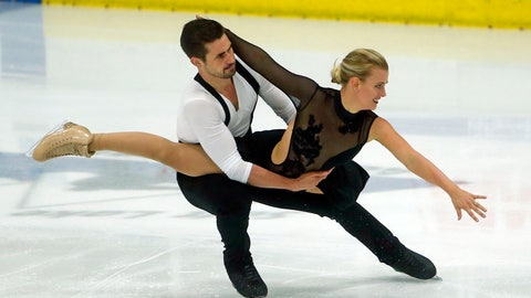 <p>               Madison Hubbell and Zachary Donohue, of the of United States, compete during ice dance at the U.S. International Figure Skating Classic, Friday, Sept. 14, 2018, in Salt Lake City. (AP Photo/Rick Bowmer)             </p>