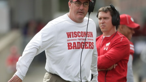 <p>               Wisconsin head coach Paul Chryst walks the sidelines during the first half of an NCAA college football game against New Mexico Saturday, Sept. 8, 2018, in Madison, Wis. (AP Photo/Morry Gash)             </p>