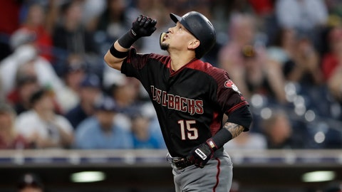 <p>               Arizona Diamondbacks' Ildemaro Vargas reacts after hitting a two-run home run during the fourth inning of a baseball game against the San Diego Padres Saturday, Sept. 29, 2018, in San Diego. (AP Photo/Gregory Bull)             </p>