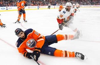 Yamamoto scores twice on 20th birthday, Oilers beat Flames