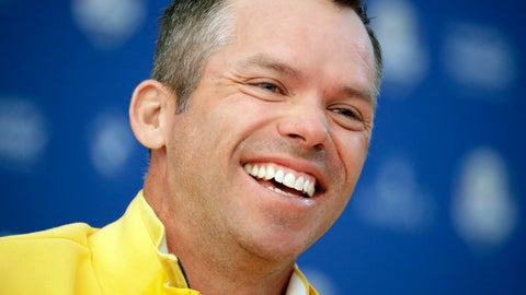 <p>               Europe's Paul Casey smiles during a press conference ahead of the Ryder Cup at Le Golf National in Saint-Quentin-en-Yvelines, outside Paris, France, Thursday, Sept. 27, 2018. The 42nd Ryder Cup will be held in France from Sept. 28-30, 2018 at Le Golf National. (AP Photo/Matt Dunham)             </p>
