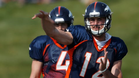 <p>               FILE - In this Tuesday, Aug. 7, 2018, file photo, Denver Broncos quarterback Paxton Lynch takes part in drills at NFL football training camp in Englewood, Colo. John Elway cut ties with his biggest draft bust Sunday, Sept. 2, 2018, when he waived quarterback Paxton Lynch less than 24 hours after including him on the Denver Broncos' 53-man roster. (AP Photo/David Zalubowski, File)             </p>