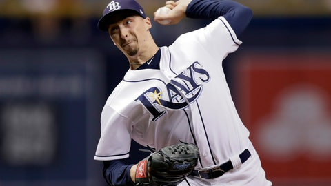 <p>               Tampa Bay Rays starting pitcher Blake Snell delivers to the Baltimore Orioles during the first inning of a baseball game Friday, Sept. 7, 2018, in St. Petersburg, Fla. (AP Photo/Chris O'Meara)             </p>