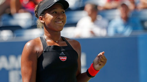 <p>               Naomi Osaka, of Japan, reacts after defeating Lesia Tsurenko, of Ukraine, during the quarterfinals of the U.S. Open tennis tournament, Wednesday, Sept. 5, 2018, in New York. (AP Photo/Jason DeCrow)             </p>