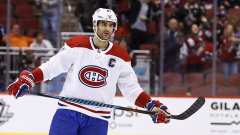 <p>               FILE - In this Thursday, Feb. 15, 2018, file photo, Montreal Canadiens left wing Max Pacioretty (67) pauses on the ice during the second period of an NHL hockey game against the Arizona Coyotes in Glendale, Ariz. In a deal announced late Sunday, Sept. 9, 2018, the Vegas Golden Knights have acquired All-Star forward Max Pacioretty from the Montreal Canadiens for Tomas Tatar, prospect Nick Suzuki and a 2019 second-round pick. (AP Photo/Ross D. Franklin, File)             </p>