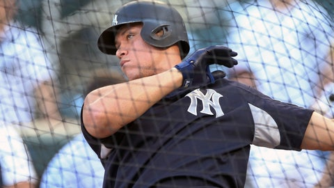 <p>               New York Yankees' Aaron Judge takes batting practice before a baseball game against the Minnesota Twins Wednesday, Sept. 12, 2018, in Minneapolis. (AP Photo/Jim Mone)             </p>