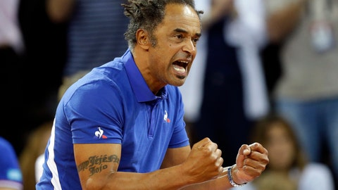 <p>               FILE - In this April 22, 2018 file photo, France's team captain Yannick Noah reacts during the Fed Cup semifinal singles tennis match between France's Pauline Parmentier and United States' Madison Keys, in Aix-en-Provence, southern France. Sadly for France, Yannick Noah is leaving his job as Davis Cup captain at the end of the year. (AP Photo/Claude Paris, File)             </p>