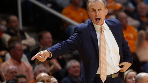 <p>               FILE - In this March 3, 2018, file photo, Tennessee head coach Rick Barnes reacts to a call in an NCAA college basketball game against Georgia in Knoxville, Tenn. Tennessee announced a contract extension and raise for Barnes, Thursday, Sept. 6, 2018. (AP Photo/Crystal LoGiudice, File)             </p>