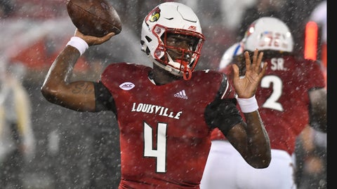 <p>               Louisville quarterback Jason Pass (4) throws a pass during the first half of the team's NCAA college football game against Indiana State, Saturday, Sept. 8, 2018, in Louisville, Ky. (AP Photo/Timothy D. Easley)             </p>