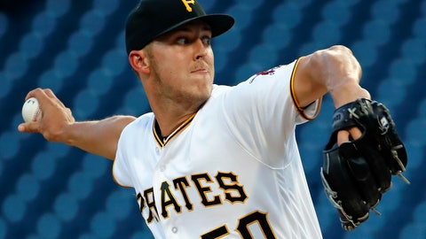 <p>               Pittsburgh Pirates starting pitcher Jameson Taillon delivers in the first inning of the team's baseball game against the Cincinnati Reds in Pittsburgh, Wednesday, Sept. 5, 2018. (AP Photo/Gene J. Puskar)             </p>