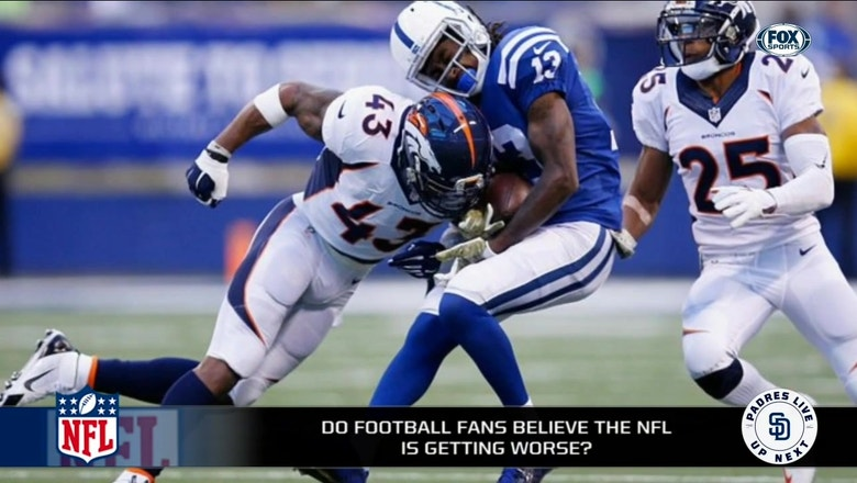 Do football fans believe the NFL is getting worse?