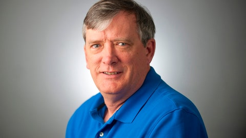 <p>               FILE - This undated file photo shows reporter John McNamara of the Capital Gazette, who was one of the victims when an active shooter targeted the newsroom, Thursday, June 28, 2018 in Annapolis, Md. The widow of the slain Maryland newspaper reporter, McNamara, has spread his ashes at Nationals Park. The Baltimore Sun reported that Andrea Chamblee placed the ashes of McNamara in a planter of begonias at the park Saturday, Sept. 1, 2018. (The Baltimore Sun via AP, File)             </p>