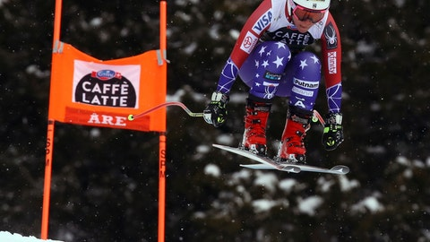 <p>               FILE -In this Wednesday, March 14, 2018, file photo, United States' Breezy Johnson speeds down the course during a women's downhill event at the alpine ski World Cup finals in Are, Sweden. Johnson will miss the 2018-19 World Cup season after suffering a torn ACL in her right knee during a training crash in Chile. (AP Photo/Alessandro Trovati, File)             </p>
